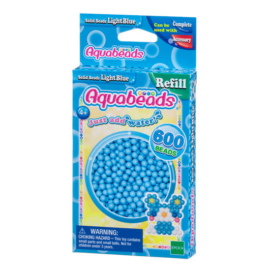 Light Blue Solid  Bead Pack