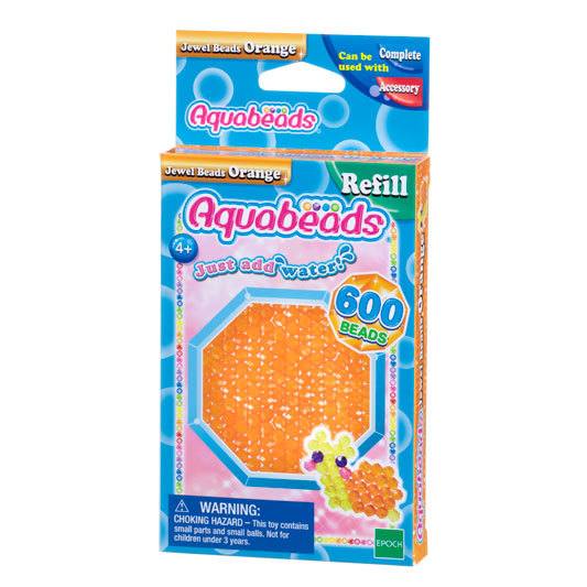 Orange Jewel Bead Pack