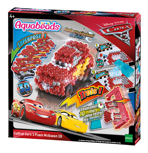 Le coffret Cars 3 Flash Mcqueen 3D
