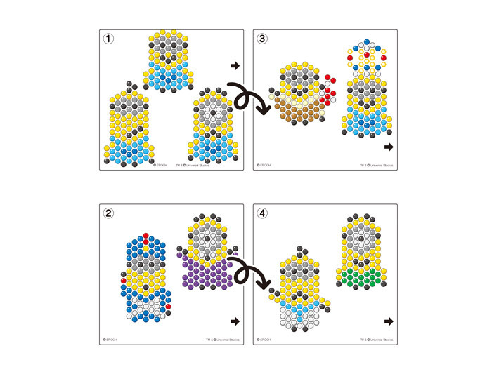 Minions Character Set Aquabeads - Aquabeads templates