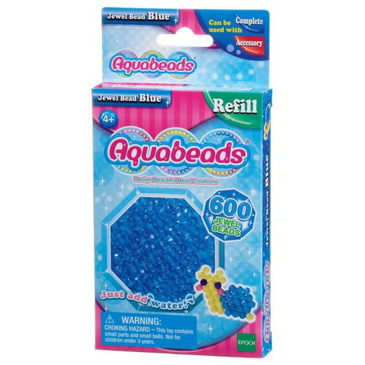 Perles multi-facettes bleues