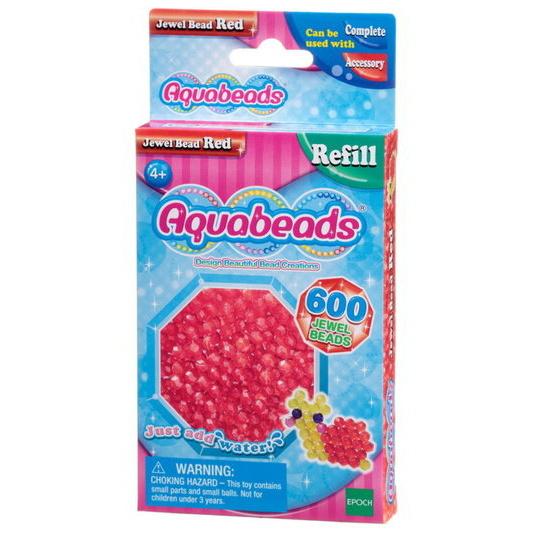 Perles multi-facettes rouges