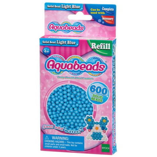 Lyseblå matte perler