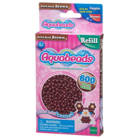 Brown Solid  Bead Pack (pink)