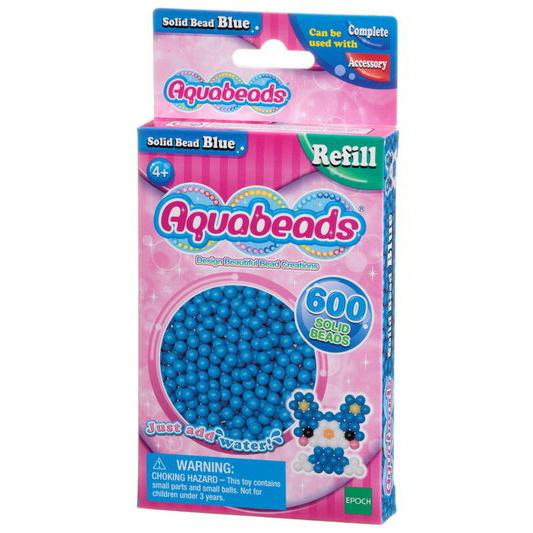 Blå matta pärlor