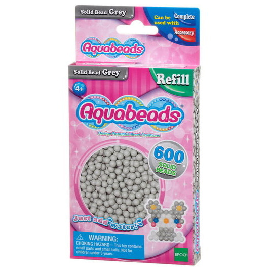 Gray Solid  Bead Pack (pink)