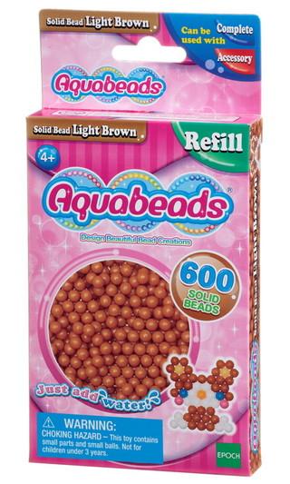 Ljusbruna matta pärlor