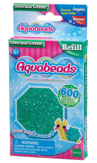 Grüne Glitzerperlen